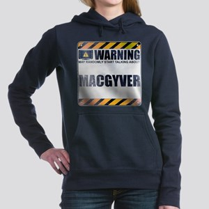 Warning: MacGyver Woman's Hooded Sweatshirt