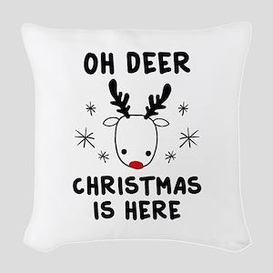 Oh Deer Woven Throw Pillow