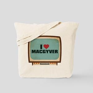 Retro I Heart MacGyver Tote Bag