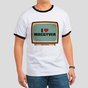Retro I Heart MacGyver Ringer T-Shirt