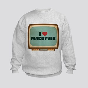 Retro I Heart MacGyver Kids Sweatshirt