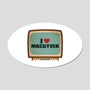 Retro I Heart MacGyver 22x14 Oval Wall Peel