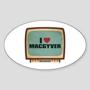 Retro I Heart MacGyver Oval Sticker