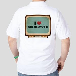 Retro I Heart MacGyver Golf Shirt