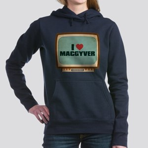 Retro I Heart MacGyver Woman's Hooded Sweatshirt