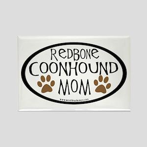 Redbone Coonhound Mom Oval Rectangle Magnet