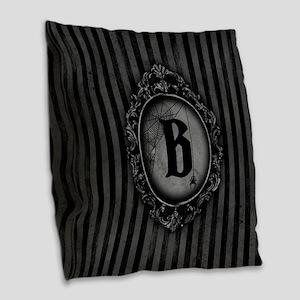 MONOGRAM Gothic Frame Spider Burlap Throw Pillow