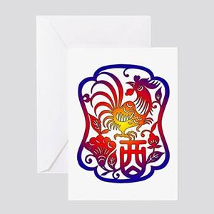 Chinese Zodiac Rooster Greeting Card