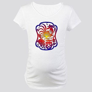 Chinese Zodiac Rooster Maternity T-Shirt