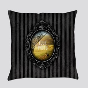 YOUR PHOTO Gothic Frame Spider Everyday Pillow