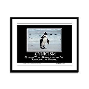 Cynicism Framed Panel Print