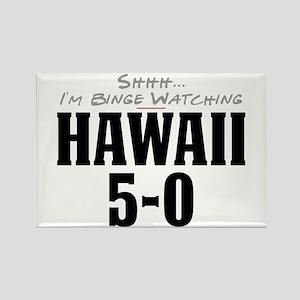 Shhh... I'm Binge Watching Hawaii 5-0 Rectangle Ma