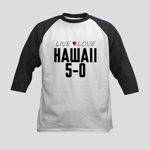 Live Love Hawaii 5-0 Kids Baseball Jersey
