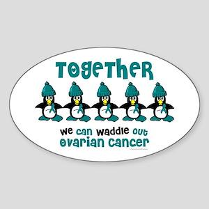 Winter Penguin 4 (OC) Oval Sticker