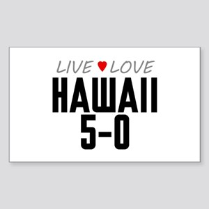 Live Love Hawaii 5-0 Rectangle Sticker