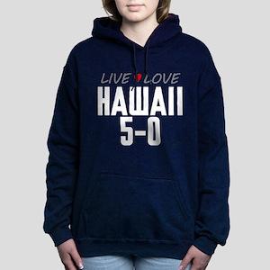 Live Love Hawaii 5-0 Woman's Hooded Sweatshirt