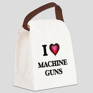 I Love Machine Guns Canvas Lunch Bag