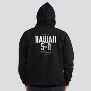 It's a Hawaii 5-0 Thing Dark Zip Hoodie