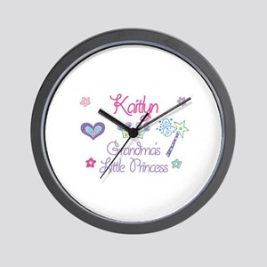Kaitlyn - Grandma's Little Pr Wall Clock
