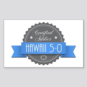 Certified Hawaii 5-0 Addict Rectangle Sticker