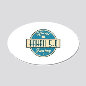 Official Hawaii 5-0 Fanboy 22x14 Oval Wall Peel