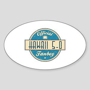 Official Hawaii 5-0 Fanboy Oval Sticker