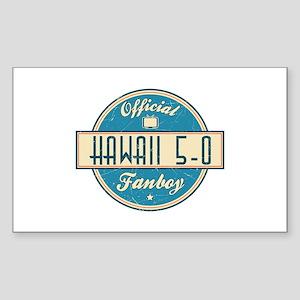 Official Hawaii 5-0 Fanboy Rectangle Sticker