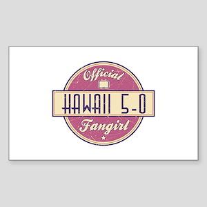 Official Hawaii 5-0 Fangirl Rectangle Sticker
