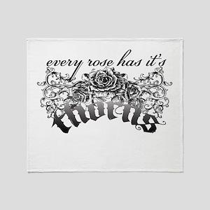 thorns Throw Blanket