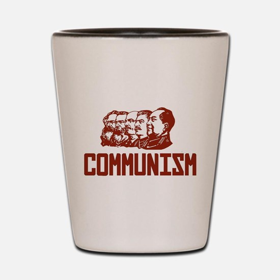Communism: Marx, Engels, Stalin, Lenin, Shot Glass