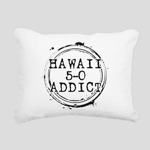 Hawaii 5-0 Addict Stamp Rectangular Canvas Pillow