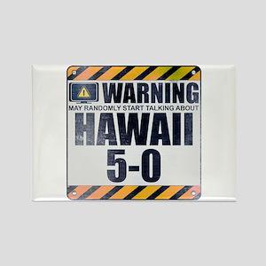 Warning: Hawaii 5-0 Rectangle Magnet