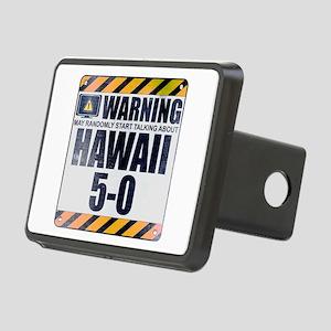 Warning: Hawaii 5-0 Rectangular Hitch Cover