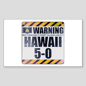 Warning: Hawaii 5-0 Rectangle Sticker