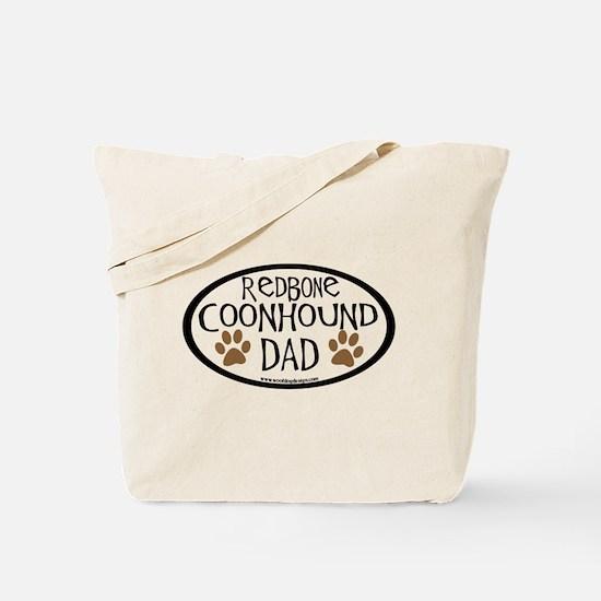 Redbone Coonhound Dad Tote Bag