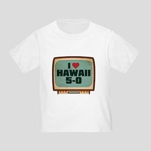 Retro I Heart Hawaii 5-0 Infant/Toddler T-Shirt