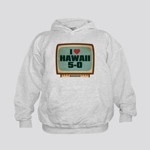Retro I Heart Hawaii 5-0 Kid's Hoodie