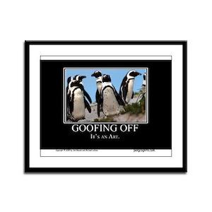 Goofing Off Framed Panel Print
