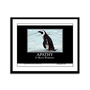 Apathy Framed Panel Print
