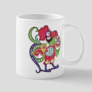 Chinese Zodiac Rooster Papercut Mug