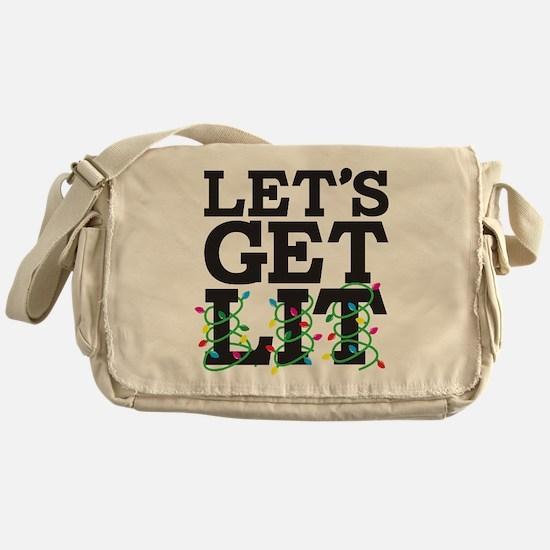 Lets Get Lit Messenger Bag