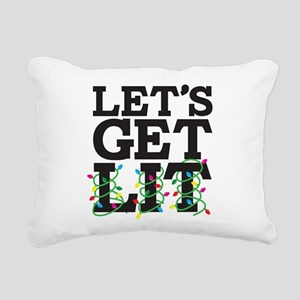 Lets Get Lit Rectangular Canvas Pillow