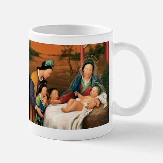 Asian Christmas Nativity Mugs