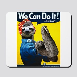 Rosie the Riveter Sloth Mousepad