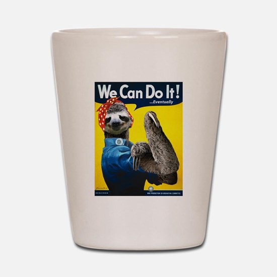 Rosie the Riveter Sloth Shot Glass