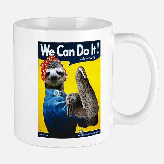 Rosie the Riveter Sloth Mug