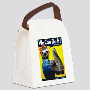 Rosie the Riveter Sloth Canvas Lunch Bag