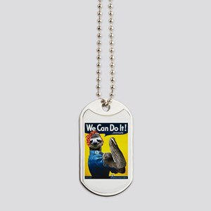 Rosie the Riveter Sloth Dog Tags