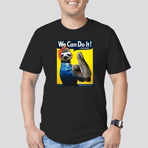 Rosie the Riveter Slot Men's Fitted T-Shirt (dark)