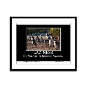 Laziness Framed Panel Print